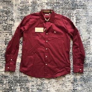 NWT Authentic Burberry Men's Button Up XL